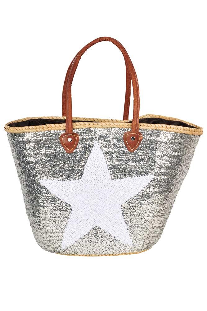 panier-de-plage-a-étoile-blanche-pailletté-ARGENT-ETOILE-BLANCHE (1)