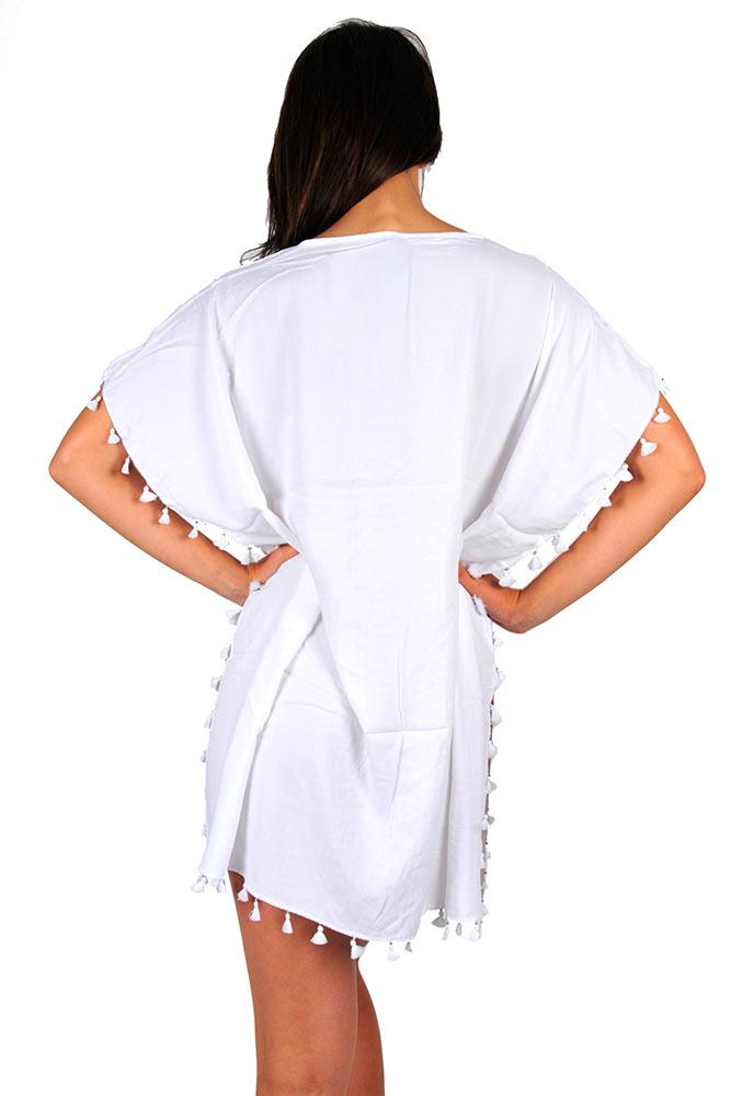 tunique femme blanche seafolly accessoires plage sur. Black Bedroom Furniture Sets. Home Design Ideas