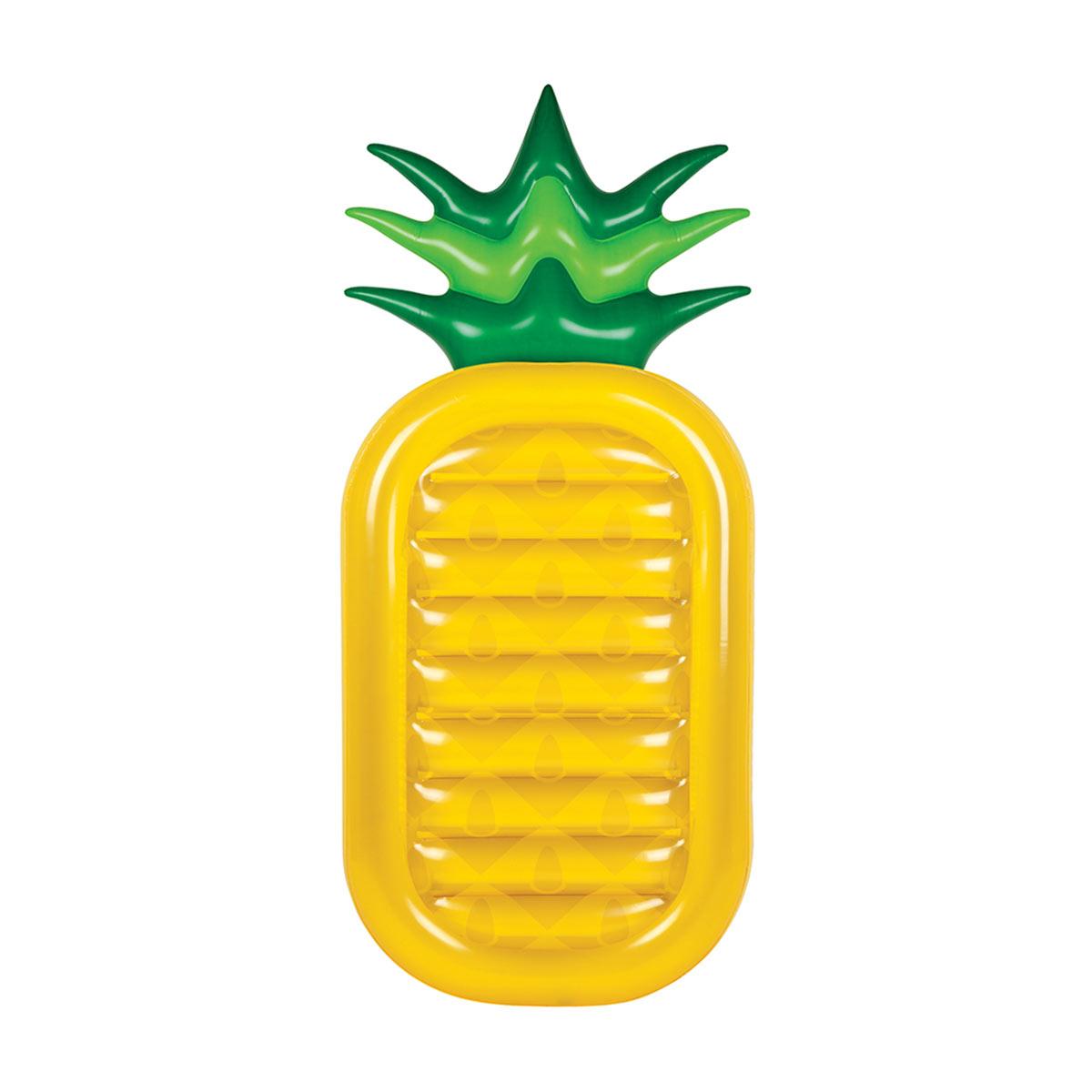 Bouée ananas jaune gonflable