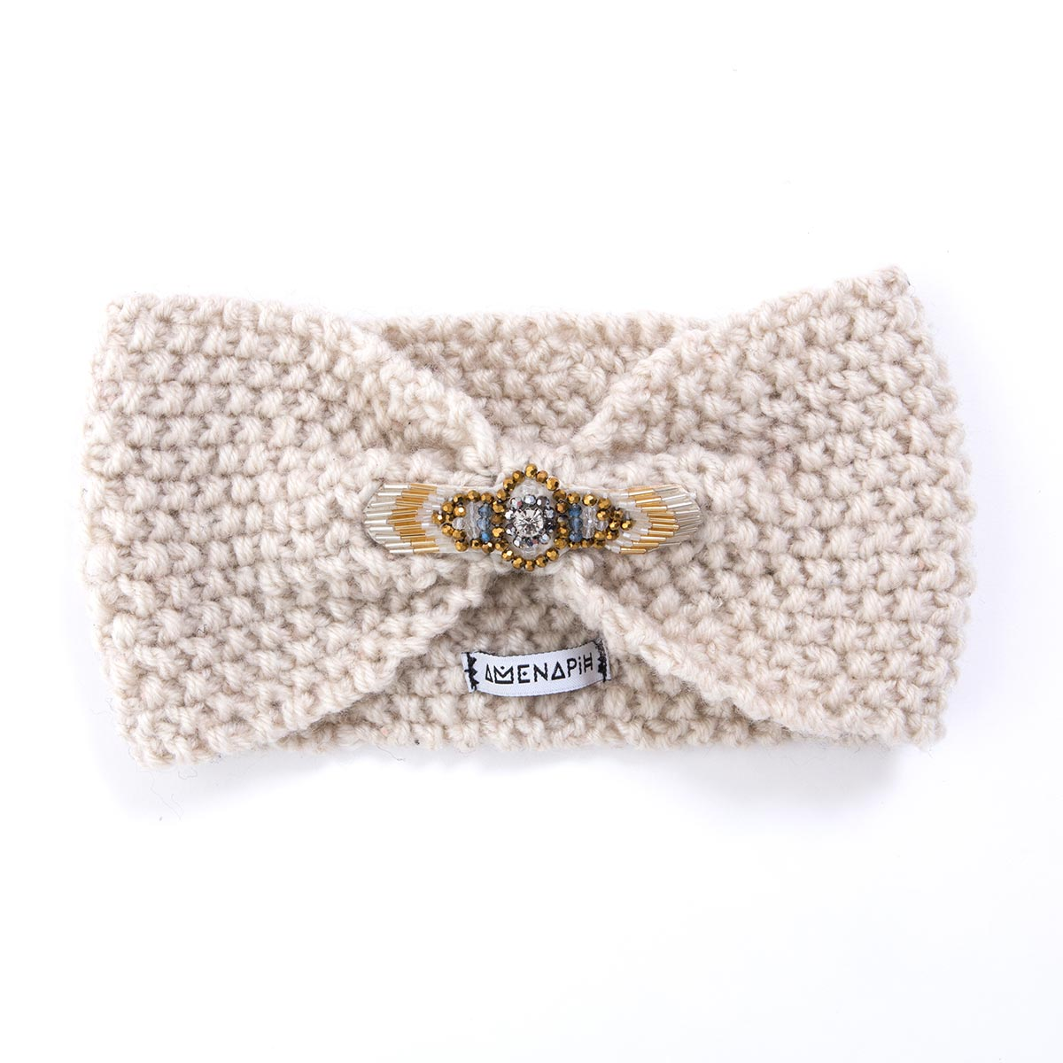 headband beige amenapih by hipanema bijoux de cheveux online. Black Bedroom Furniture Sets. Home Design Ideas