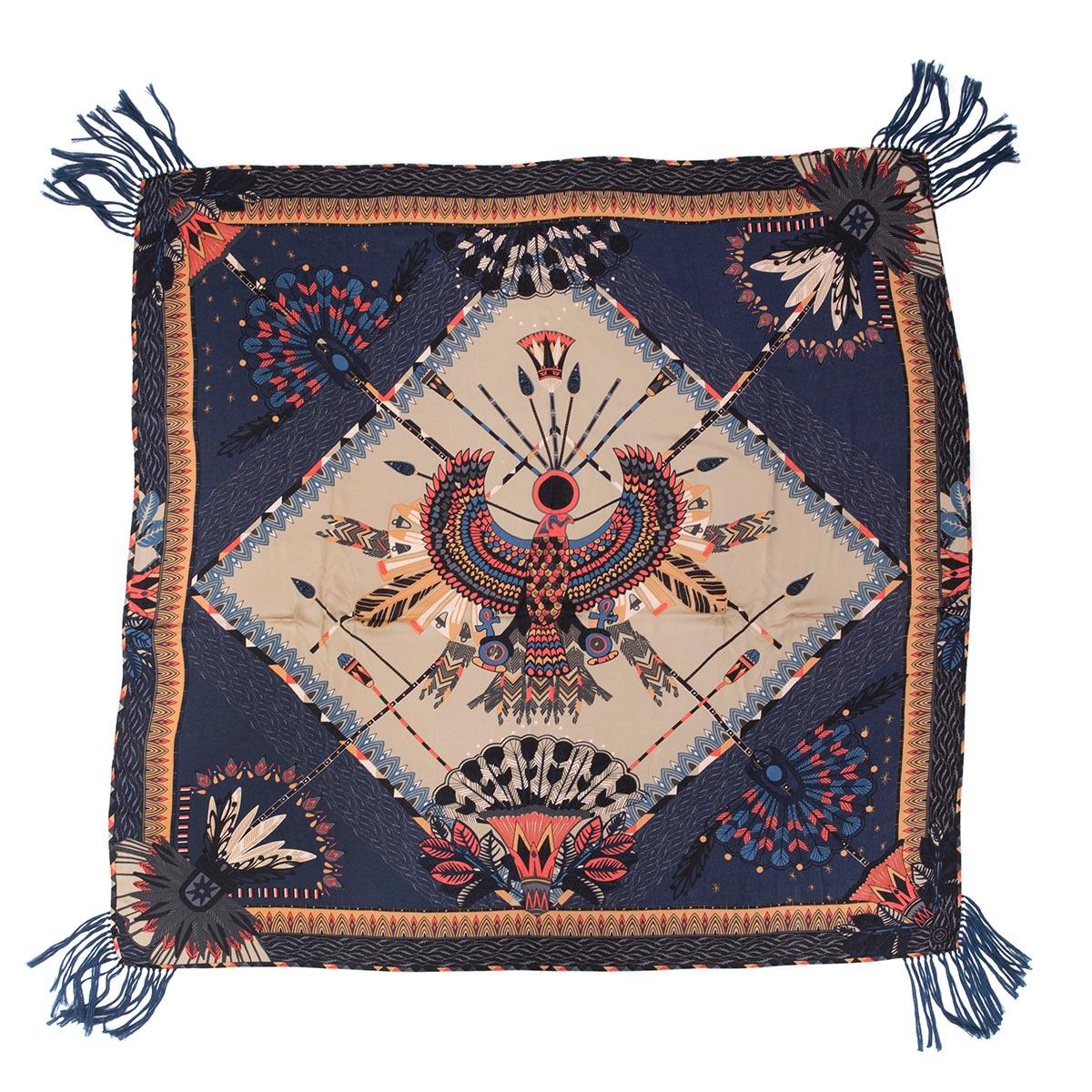foulard frange bleu amenapih by hipanema 2017 collection hiver. Black Bedroom Furniture Sets. Home Design Ideas