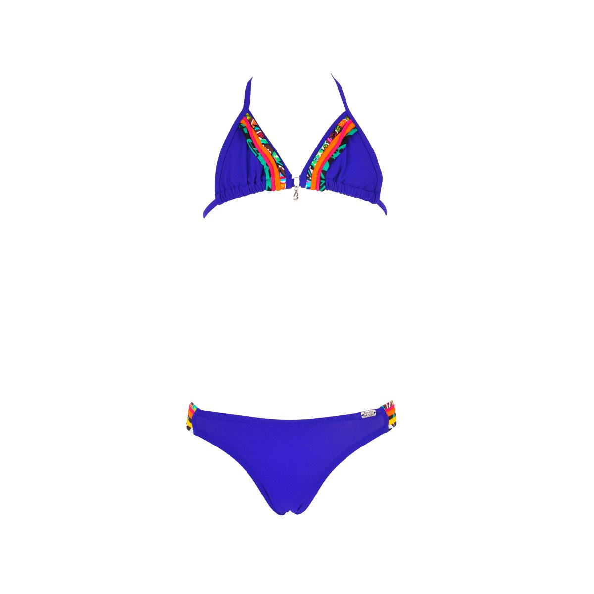 Maillot de bain 2 pièces bleu marine multi-liens Spring