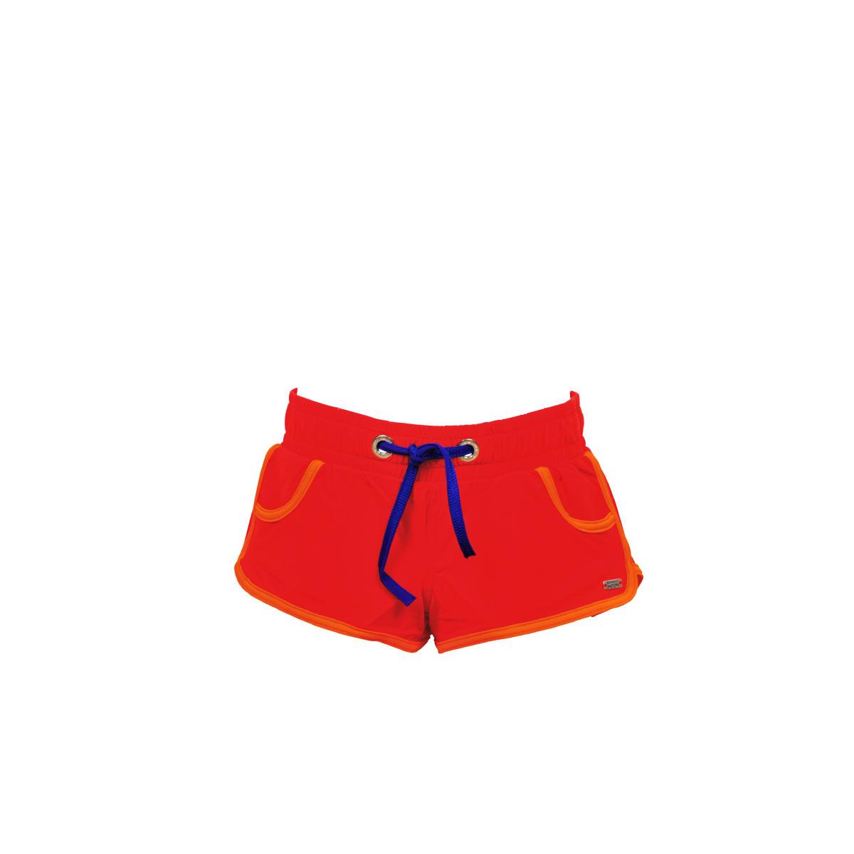 Short de plage rouge pour enfant Banana Moon Kids