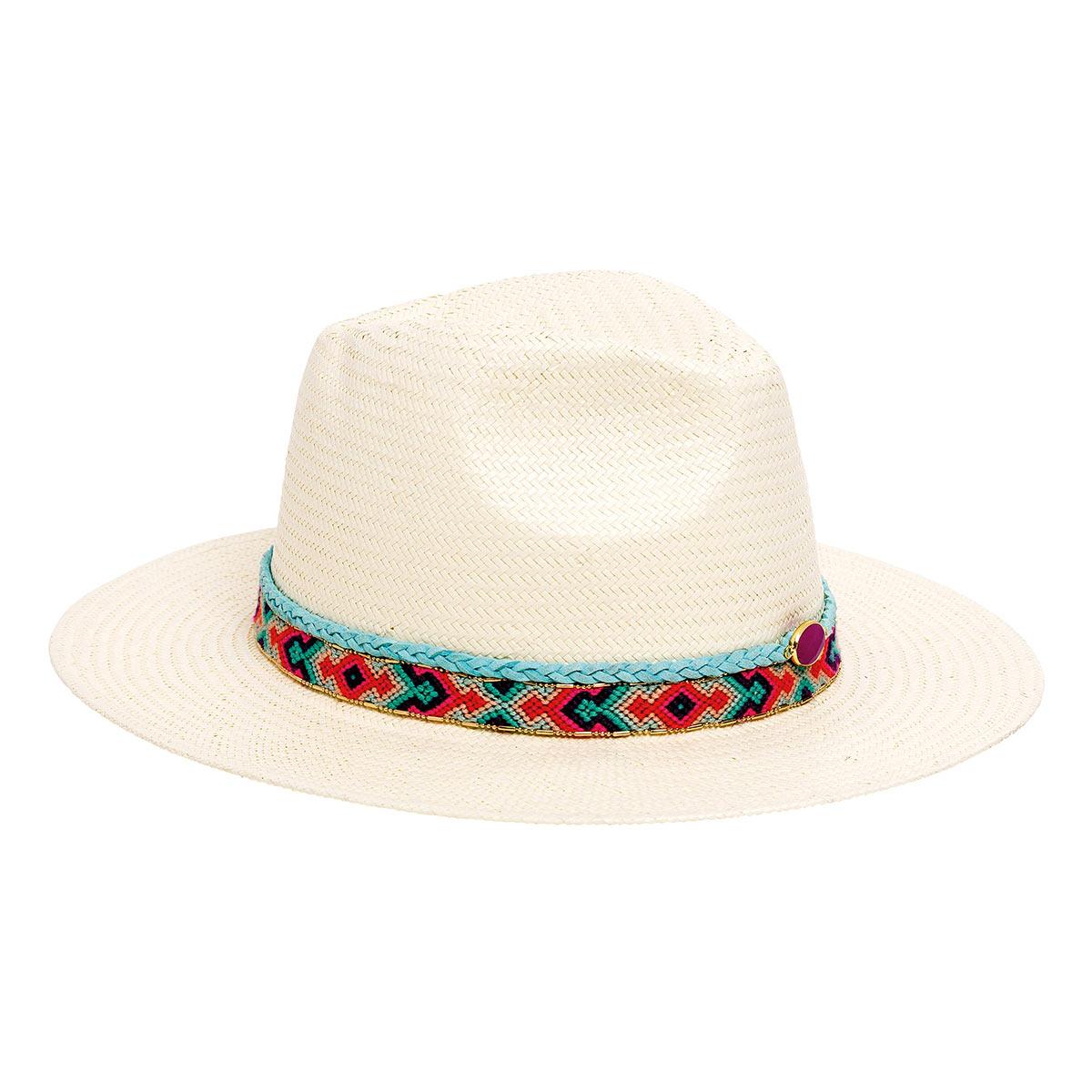 Chapeau de plage blanc Samba