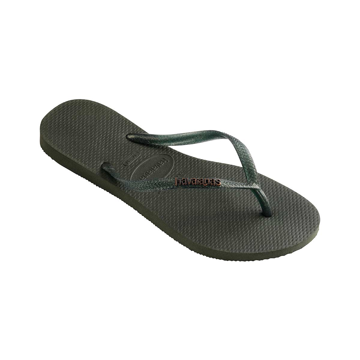8a77c6283cb Tongs vert kaki Slim Logo Metallic - Havaianas Accessoires Sun