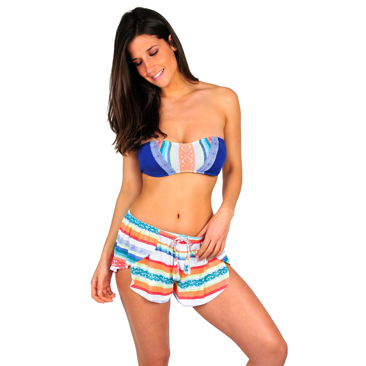 Short de plage multicolore Sun Gypsy