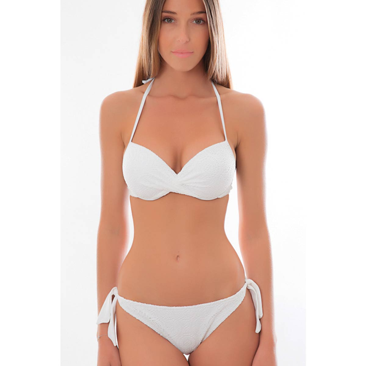 dc6d17df08 maillot de bain 2 pieces push up en dentelle blanc