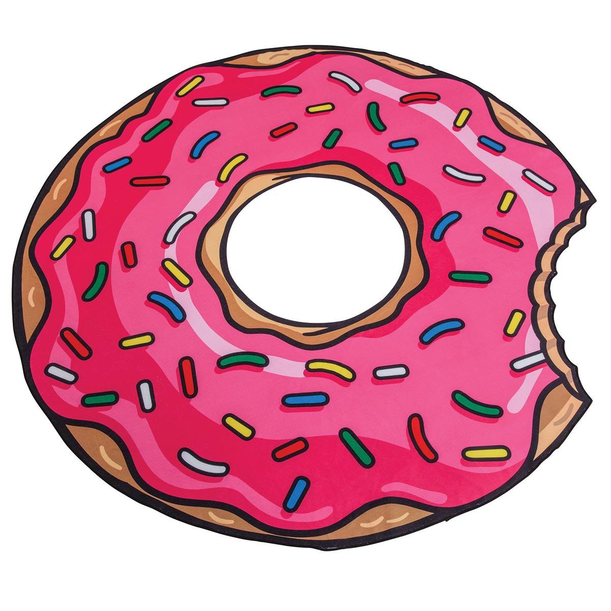 Serviette de plage rose Donut