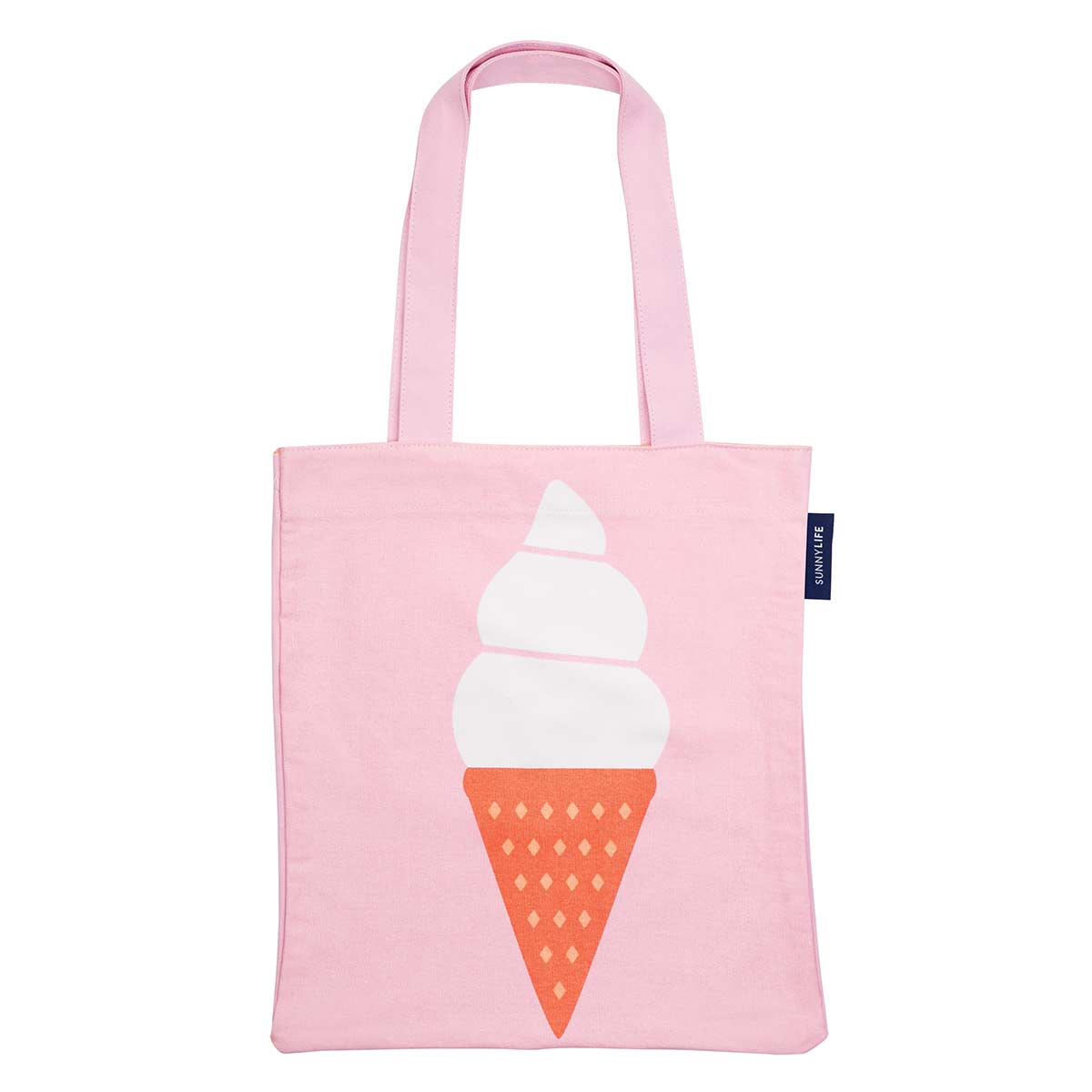 Tote bag de plage rose Glace