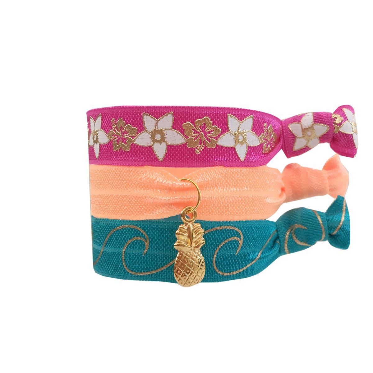 Lot de bracelets brésiliens multicolores Hanalei