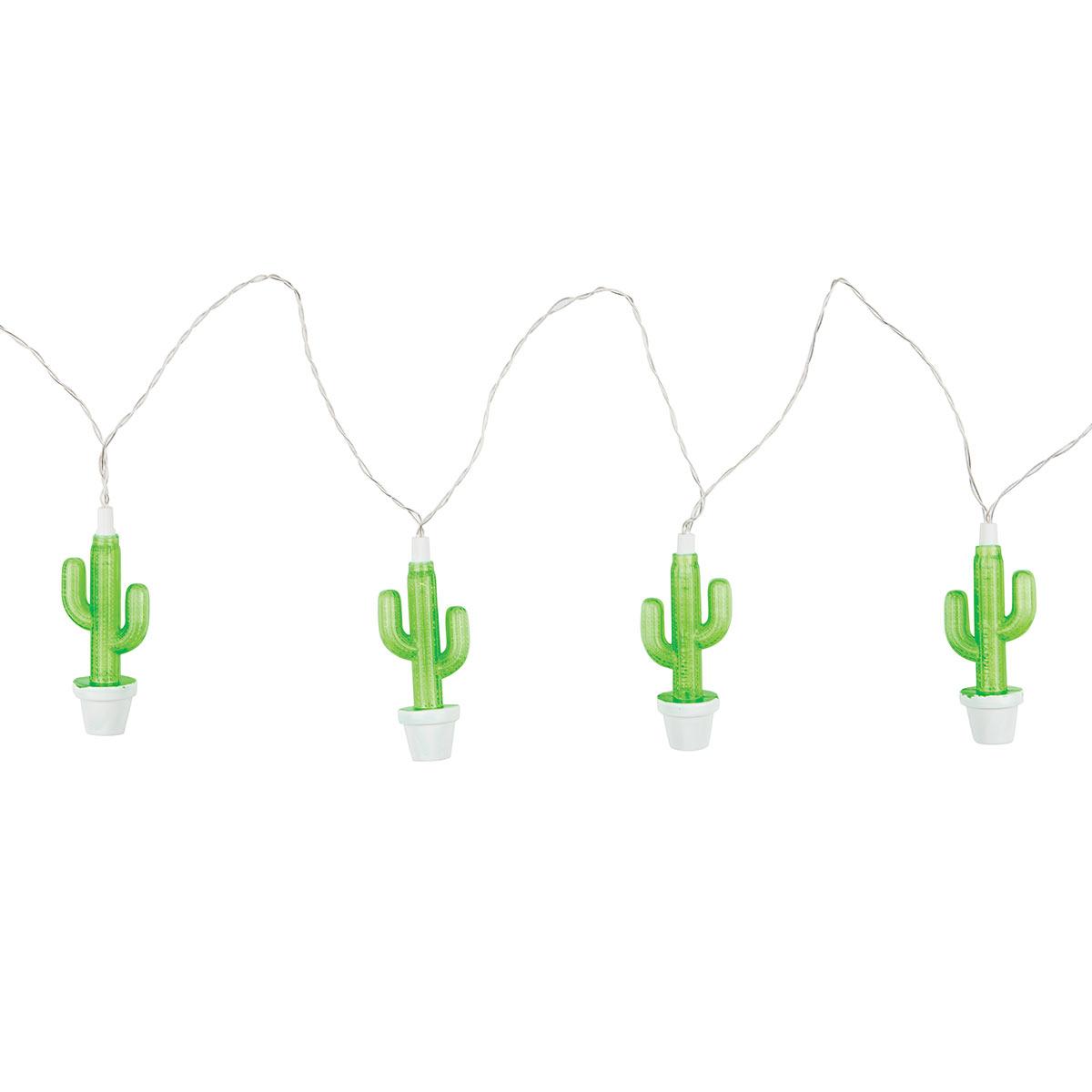 Guirlande électrique verte Cactus