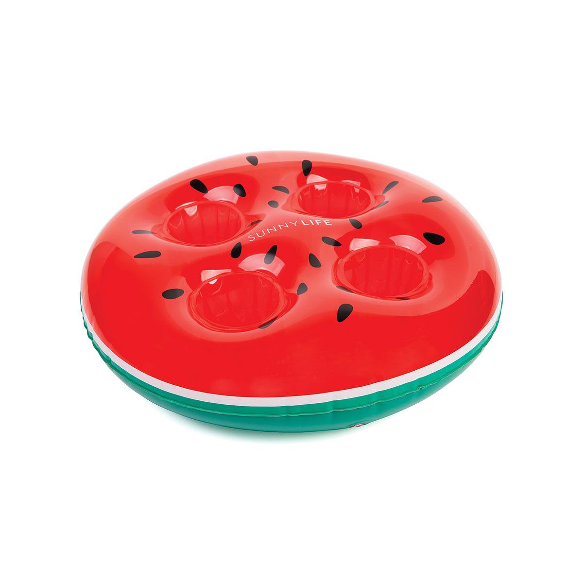 Mini bouée porte boissons rouge Pastèque