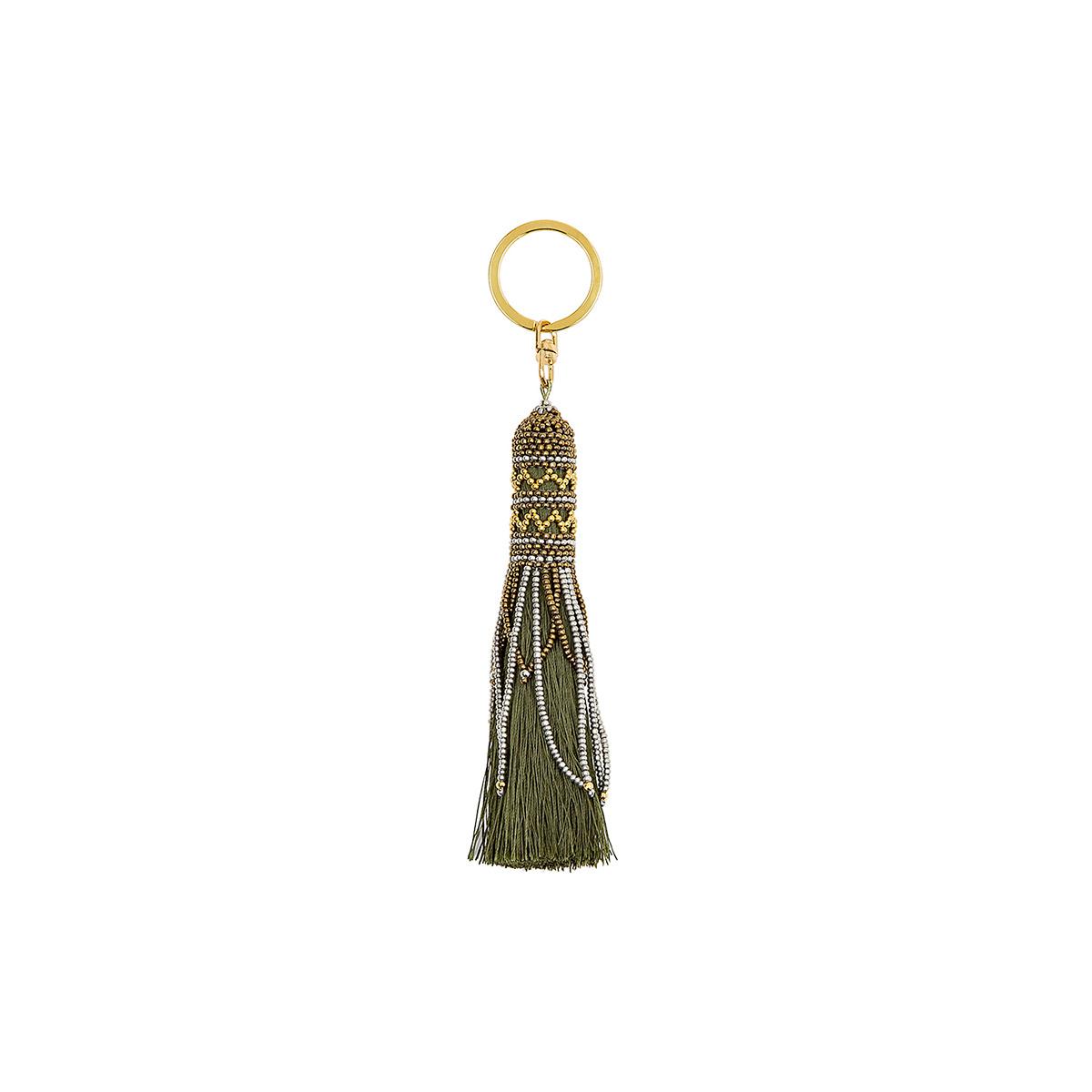 Porte-clé vert kaki Balma