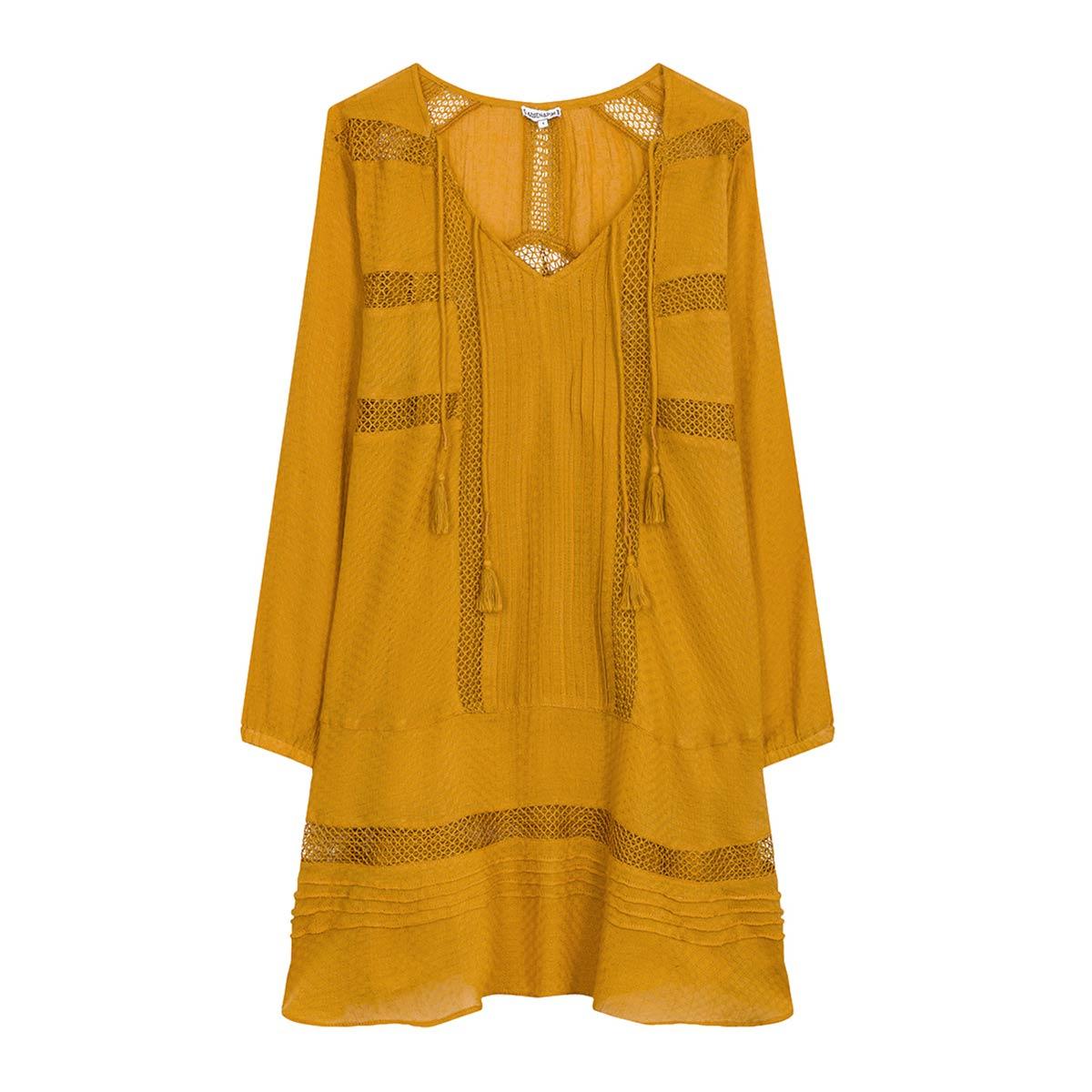 Robe jaune safran Mirella