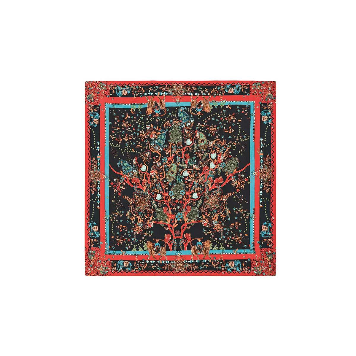 carr soie noir foulard tendance collection amenapih hiver 2018. Black Bedroom Furniture Sets. Home Design Ideas