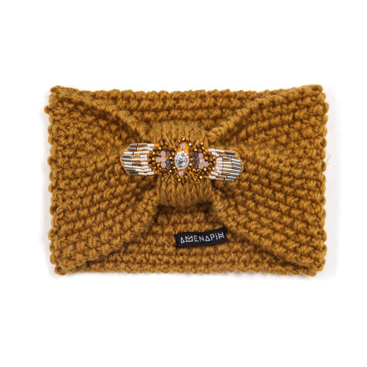 headband jaune bandeau de t te collection hipanema hiver femme. Black Bedroom Furniture Sets. Home Design Ideas