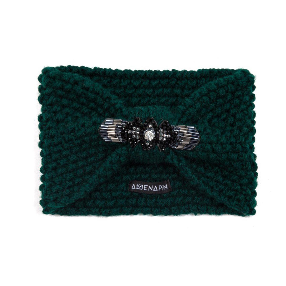 headband vert sapin bandeau de t te collection hipanema hiver. Black Bedroom Furniture Sets. Home Design Ideas