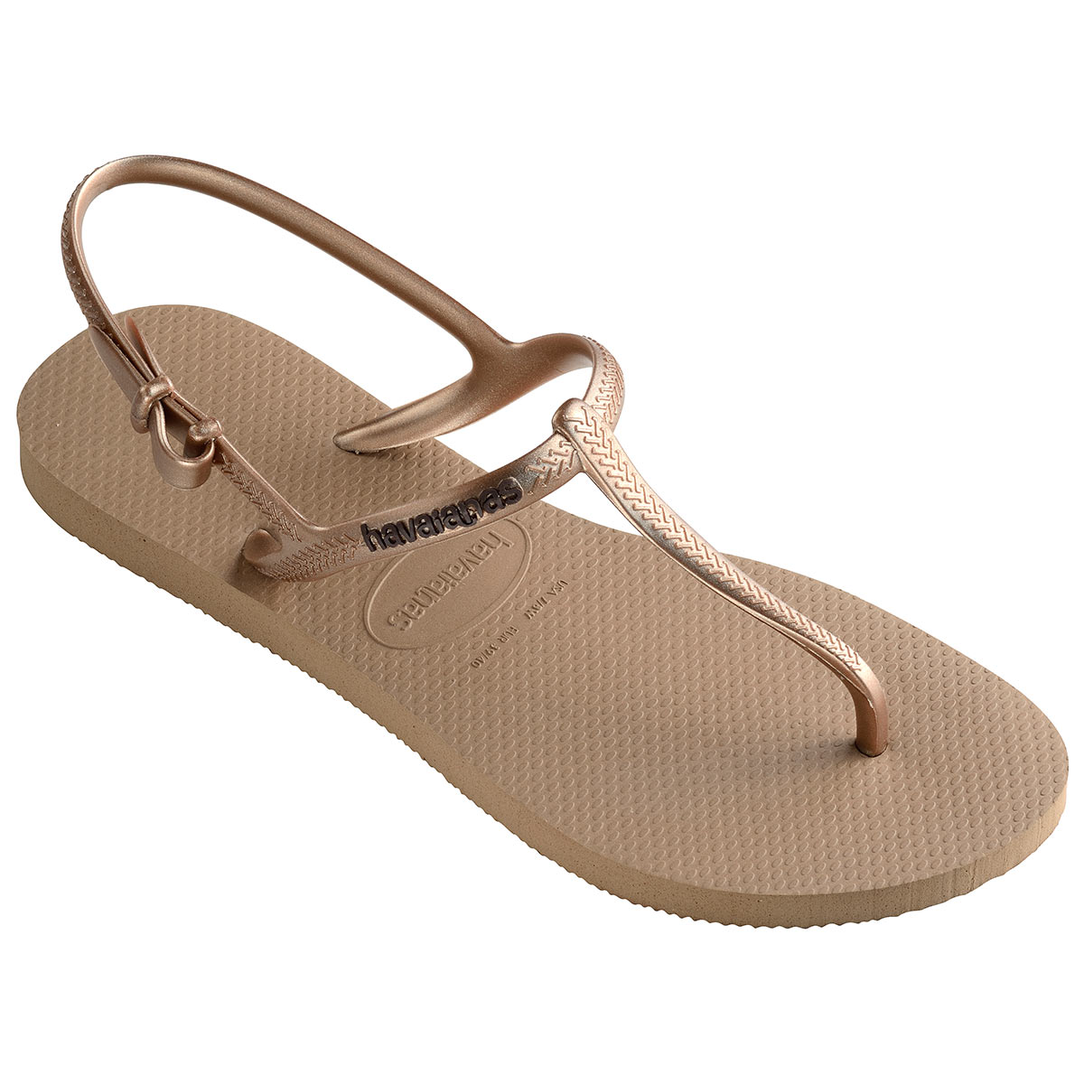 Sandales de plage dorée Freedom