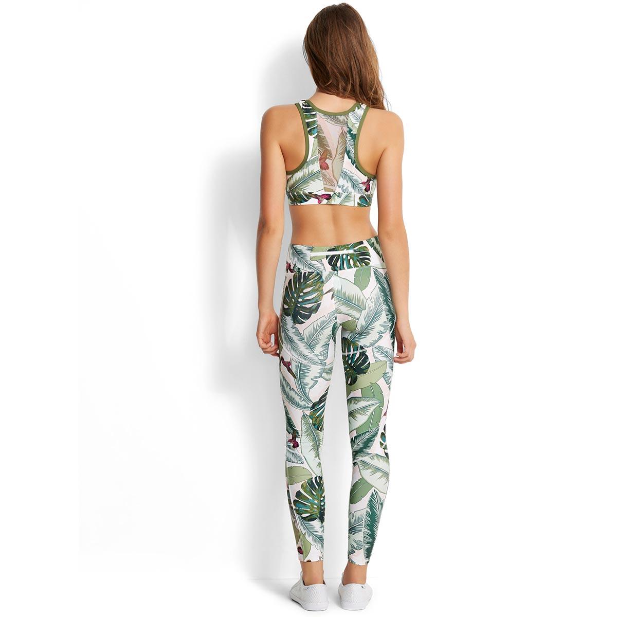de de Accesorio rosa verano estampada leggings deportivos palma ygfYb76
