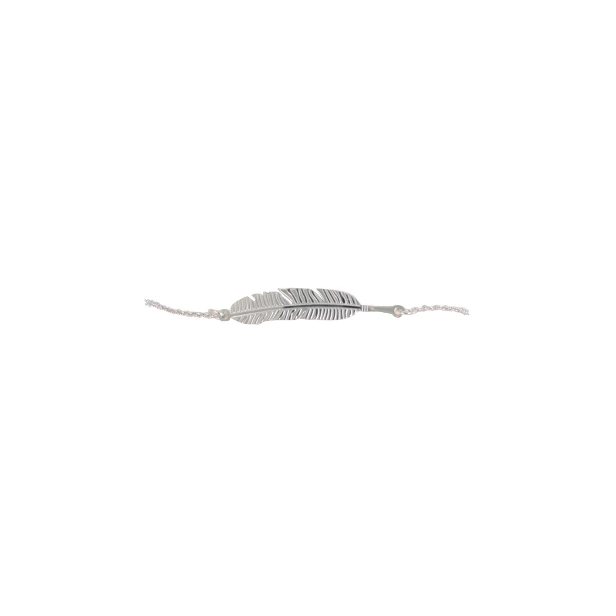 bracelet fin argent avec plume cadeau pour fille bijou noel. Black Bedroom Furniture Sets. Home Design Ideas