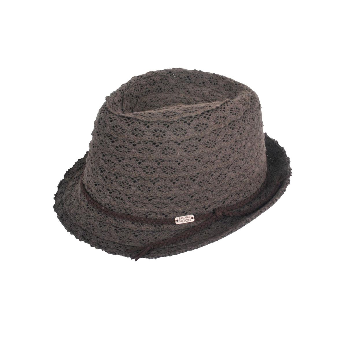 Chapeau de plage brodé vert kaki Hatsy