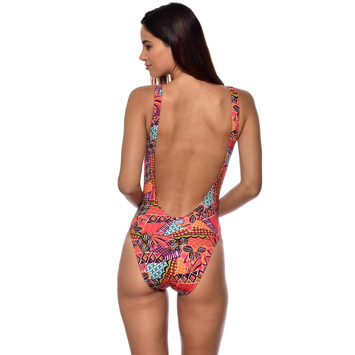 3895a826c2 Solde -40%. Maillot une pièce nageur orange imprimé ethnique Havana