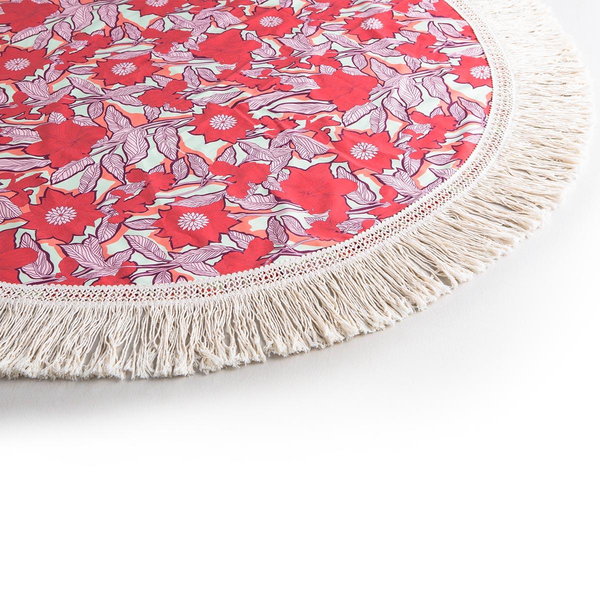 serviette de plage ronde franges nouvelle collection maaji. Black Bedroom Furniture Sets. Home Design Ideas