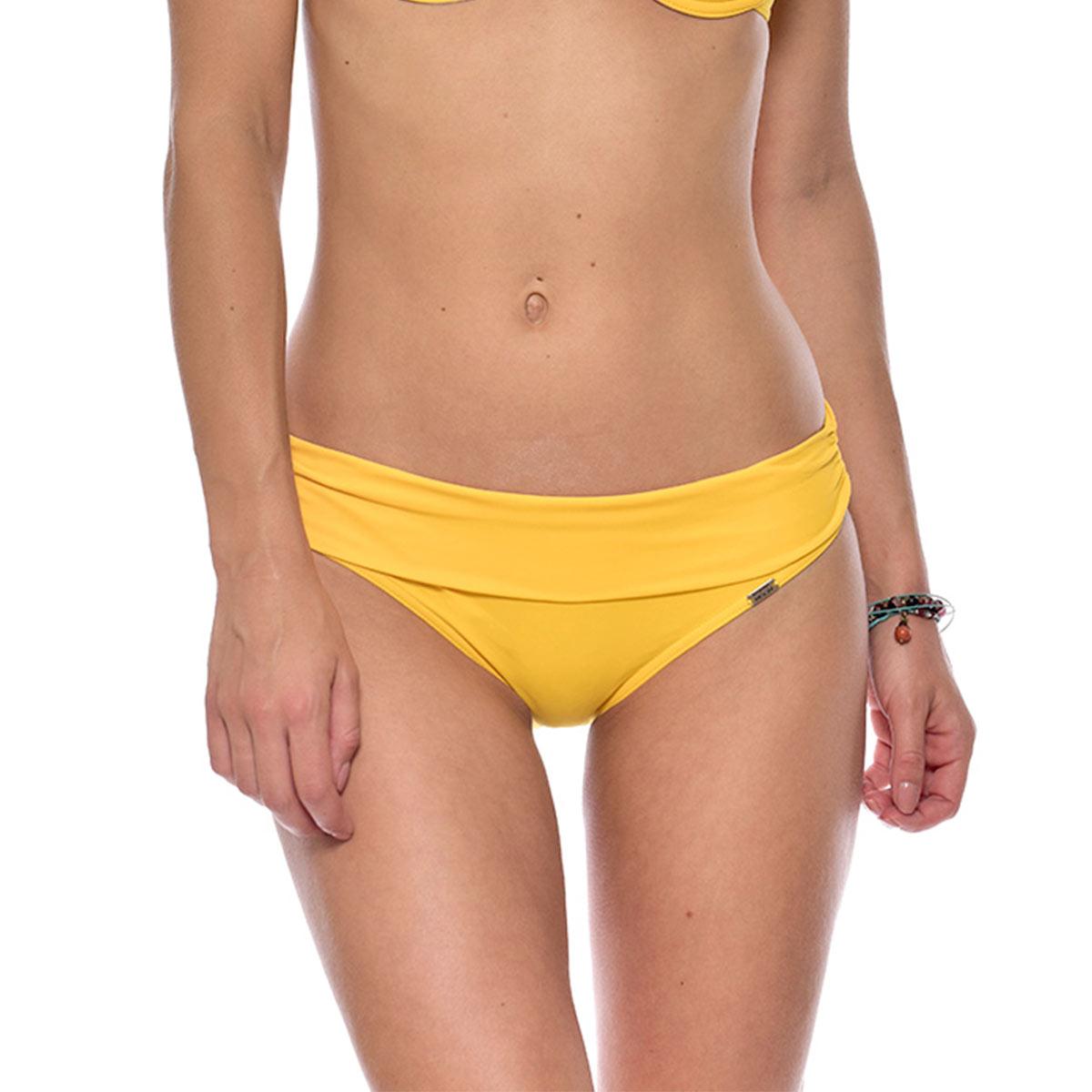Maillot de bain culotte jaune à revers Spring (Bas)
