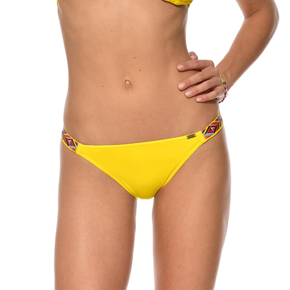 Maillot de bain culotte liens fins jaune Naranja (Bas)