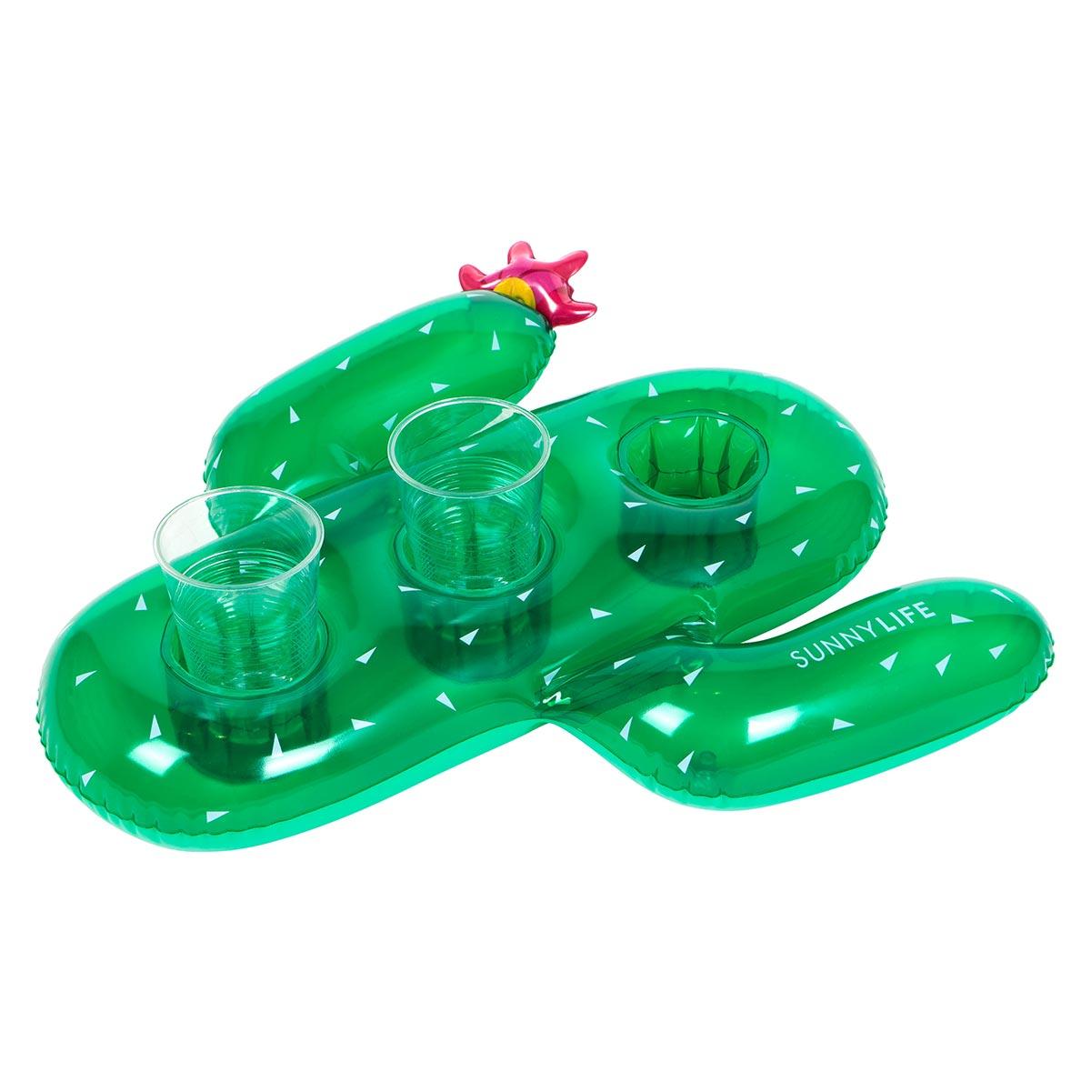 Bouée gonflable pour boissons verte Cactus