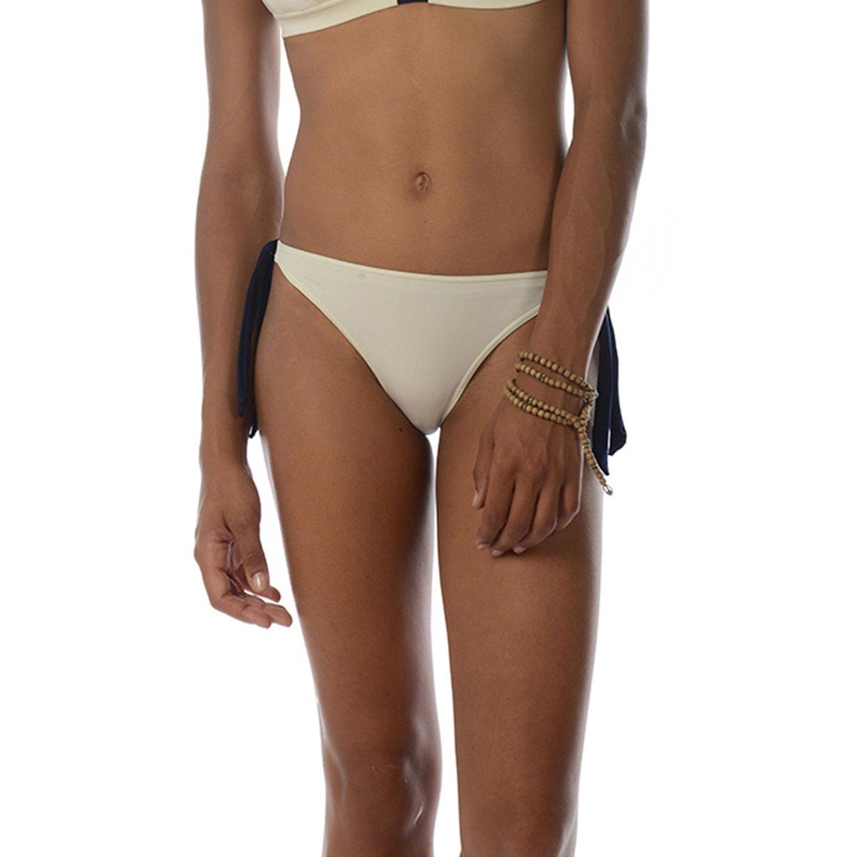 Maillot de bain culotte blanche à noeuds Transat (Bas)
