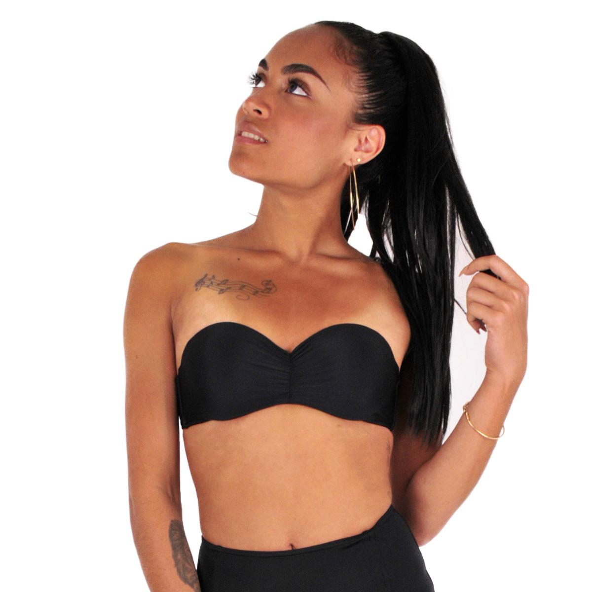 Mon Bandeau Bikini Noir (Haut)