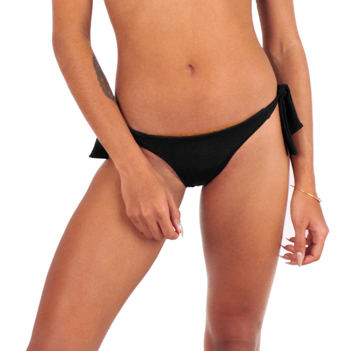 Mon Mini Bikini Noir tanga à noeuds (Bas)