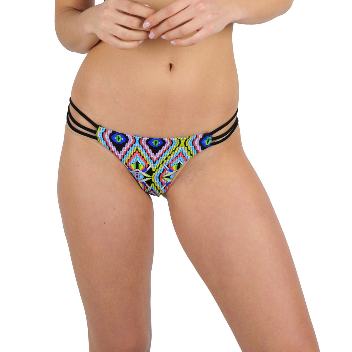 Mon Mini Itsy Bikini tanga multicolore Tribal (Bas)