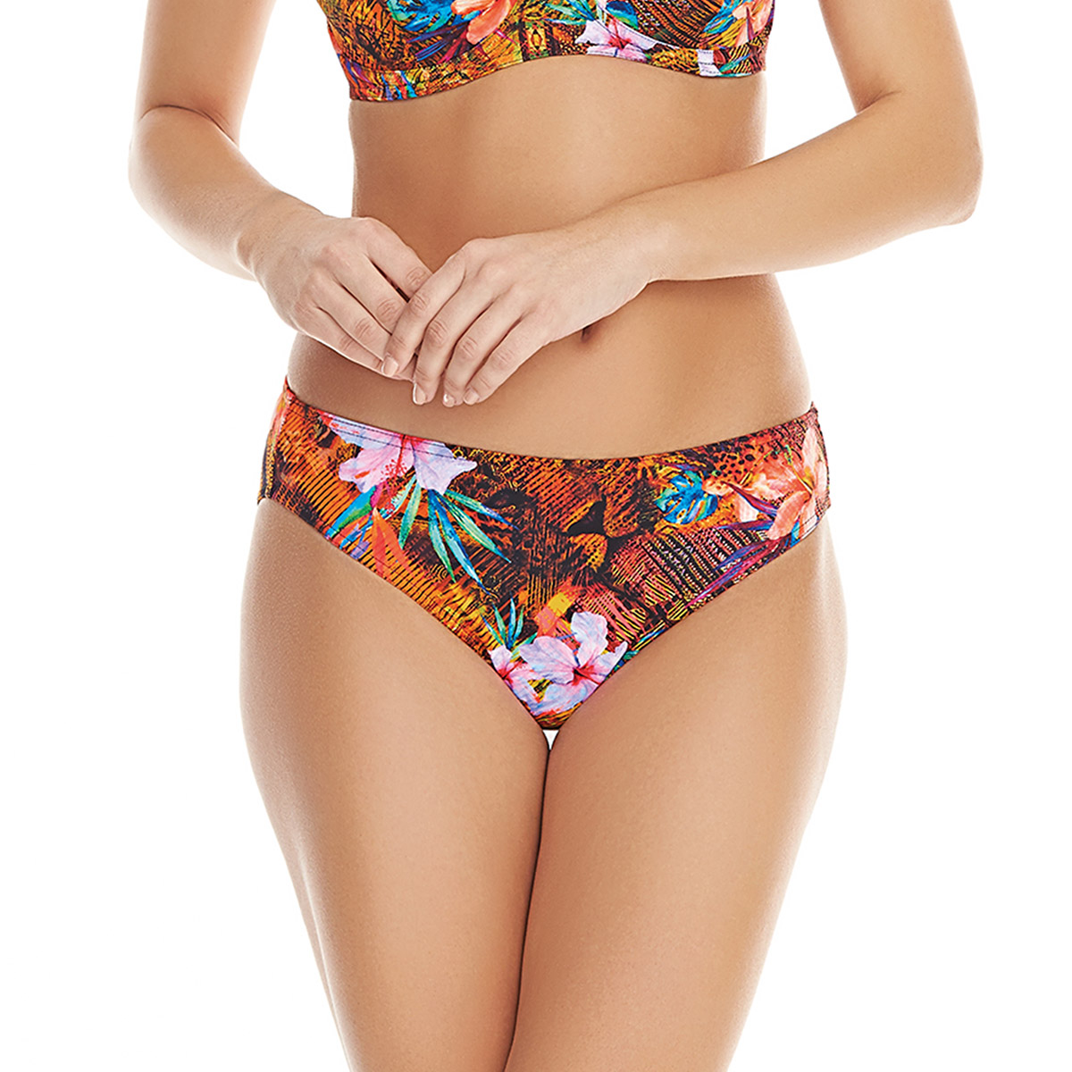 Éthnique De Taille Haute Bain Maillot Culotte Freya Multicolore redoCBx