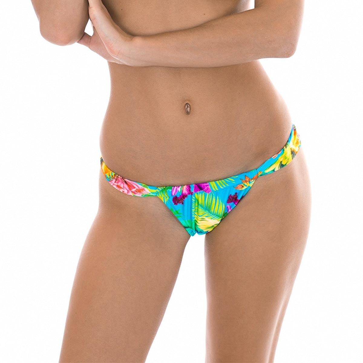 Maillot de bain brésilien coulissant multicolore Tropical (Bas)