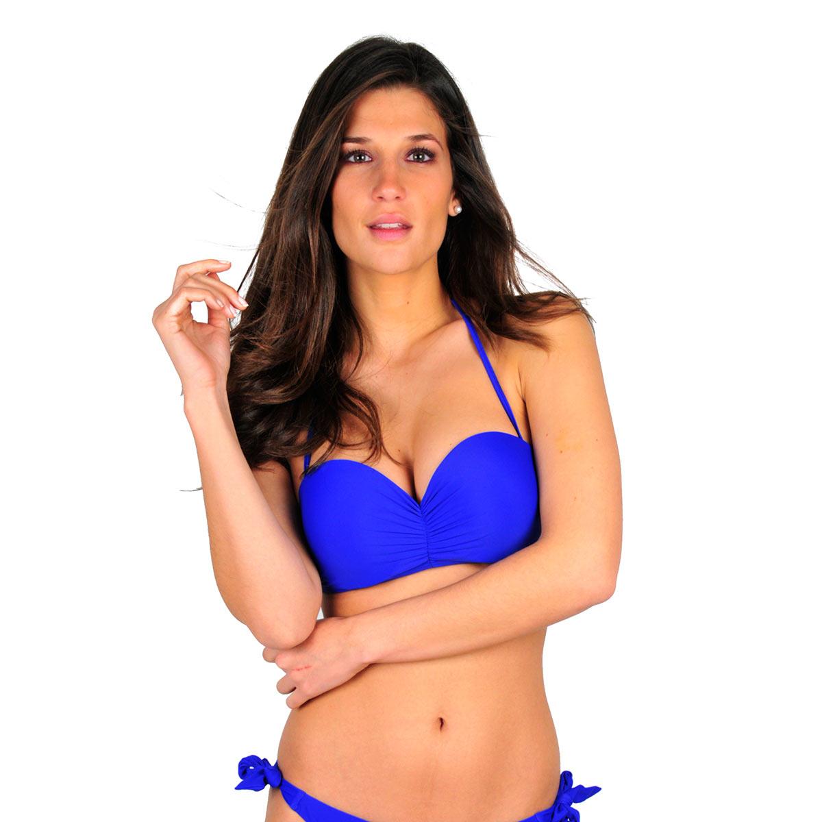 Mon Bandeau Bikini bleu roi (Haut)