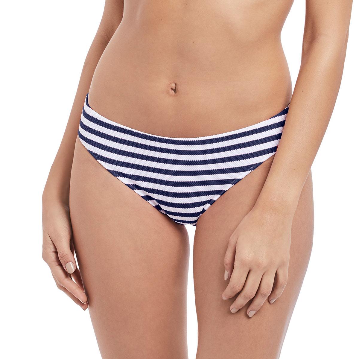 Maillot de bain culotte couvrante rayée bleue Drift Away (Bas)