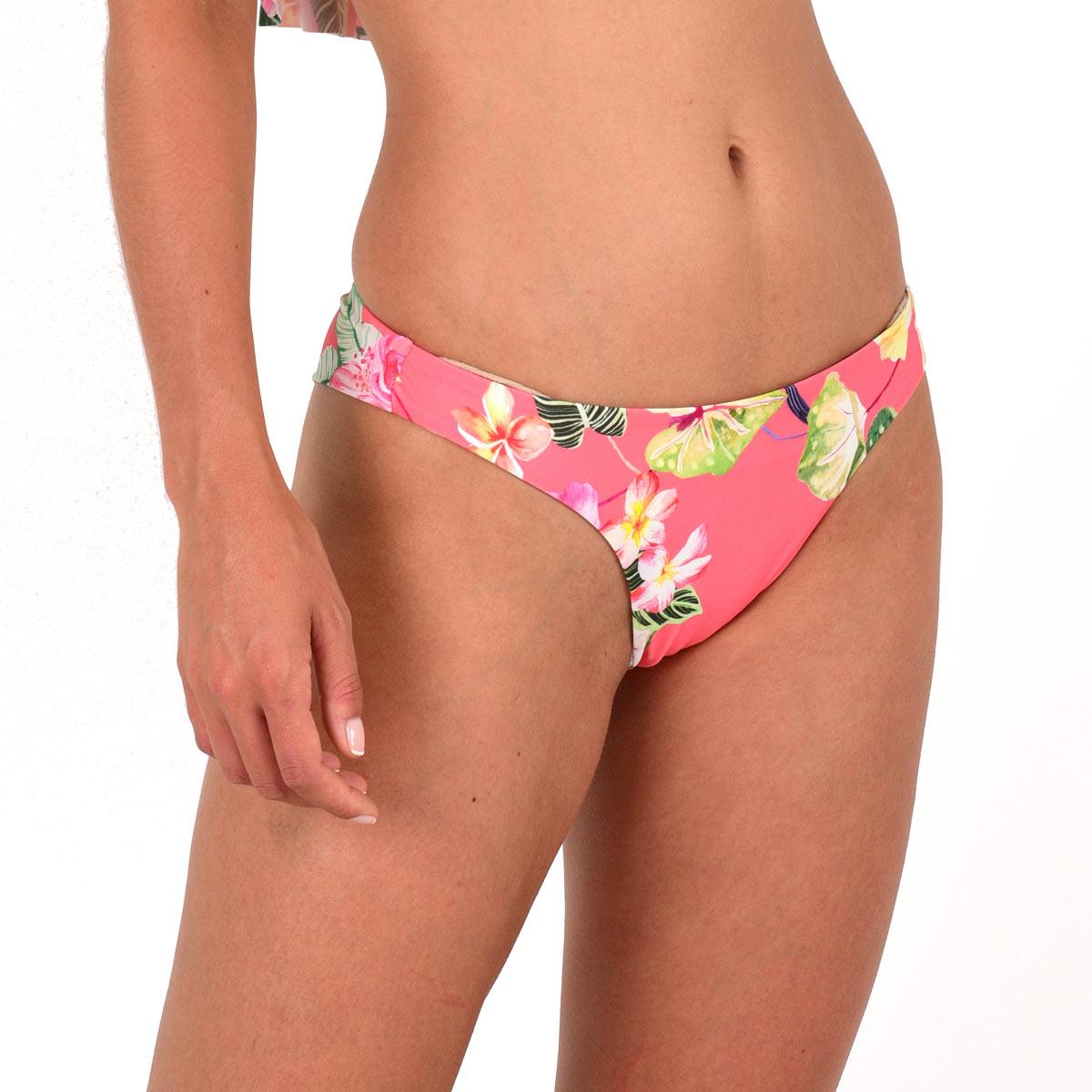Mon Petit Bikini tanga à fleurs rose corail (Bas)