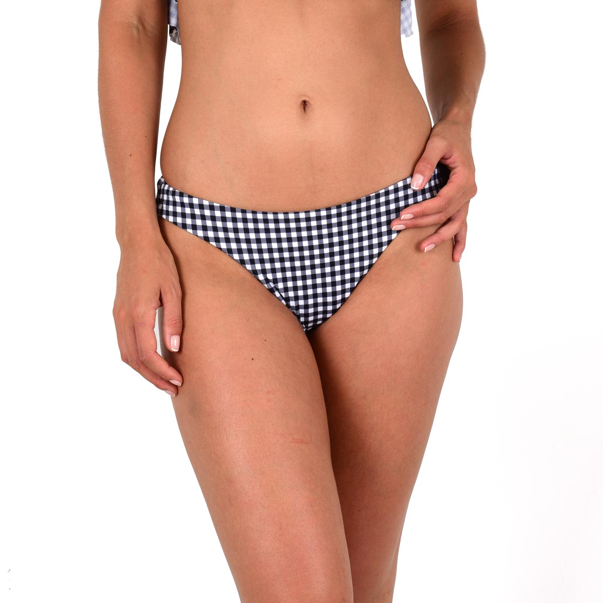 Mon Petit Bikini tanga imprimé vichy noir (Bas)