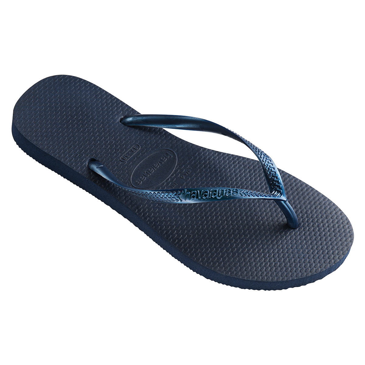 Tongs bleu marine Slim