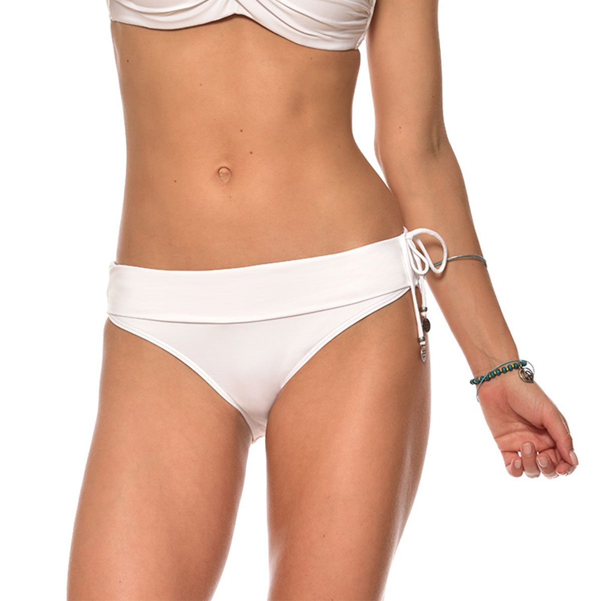 Bas de maillot de bain Culotte Blanc White