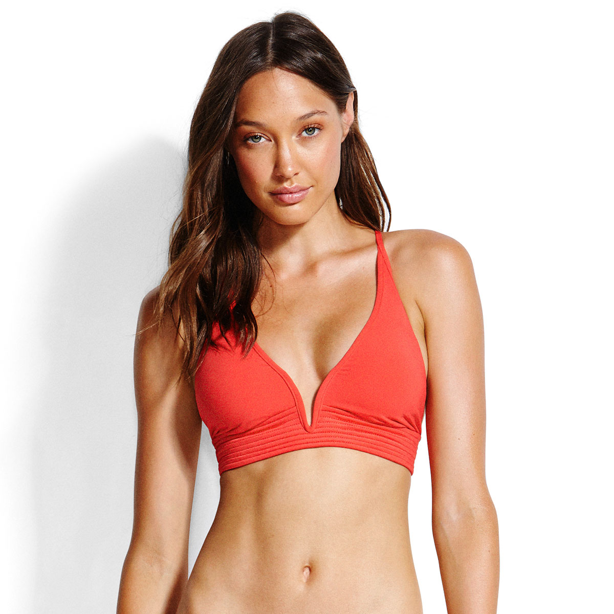 Haut de maillot de bain triangle rouge Seafolly