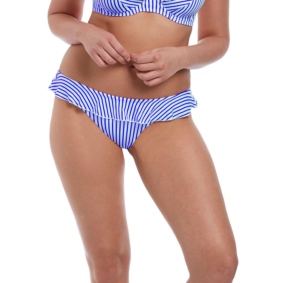 Bas de maillot de bain Culotte Bleu denim Totally Stripe