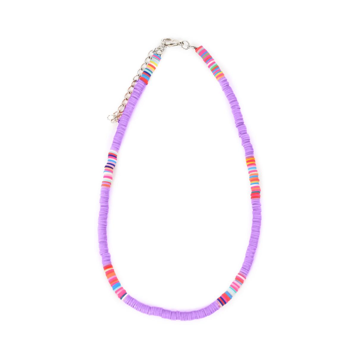 Collier Maasaï lilas