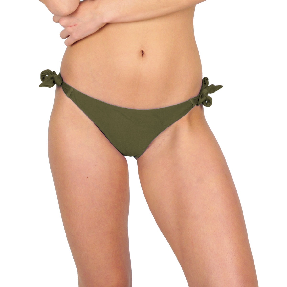 Mon Mini Bikini tanga à noeuds vert kaki (Bas)