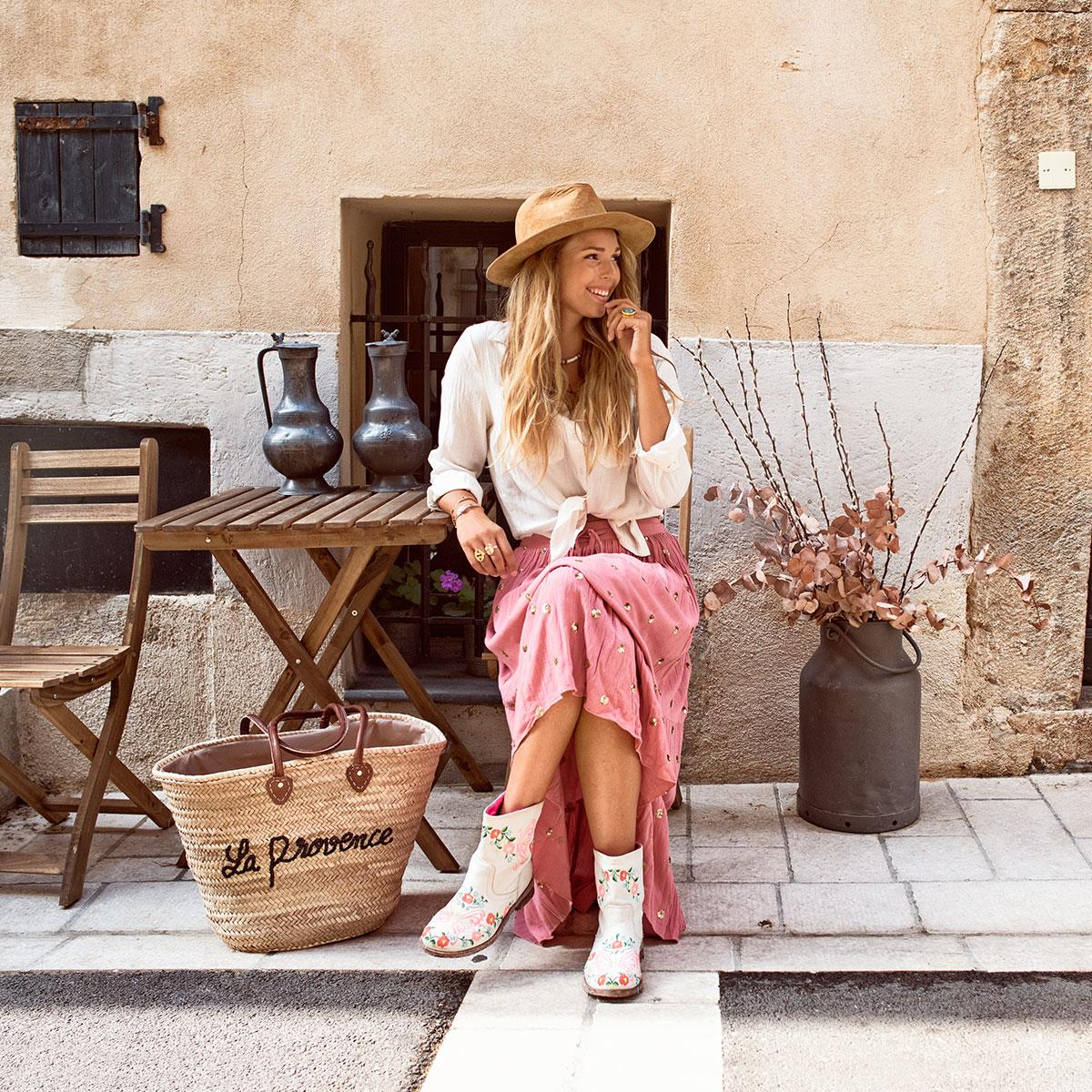 Panier en osier La provence