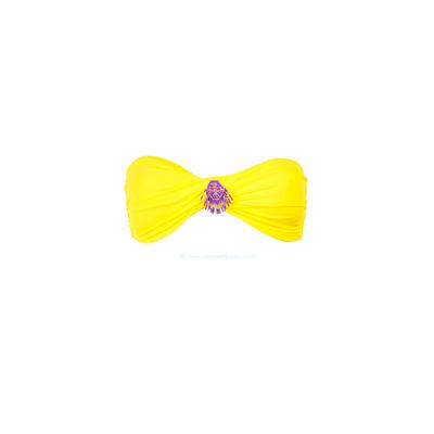 Haut de maillot de bain bandeau jaune