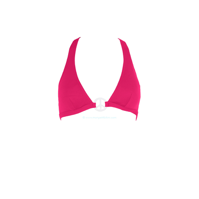 Haut de maillot triangle emboîtant rose fushia Peace