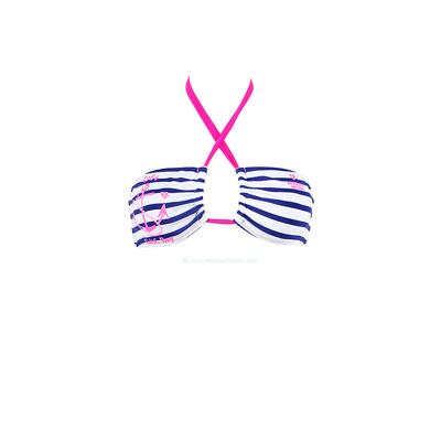 Haut de maillot bandeau marin rose fluo Rockport